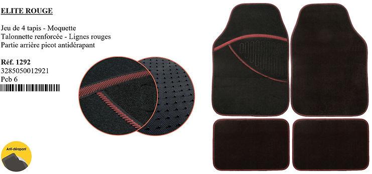 tapis de moquette peraline elite rouge
