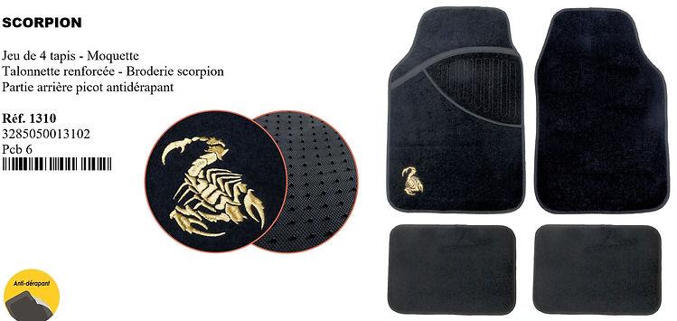 tapis de voiture moquette scorpion peral