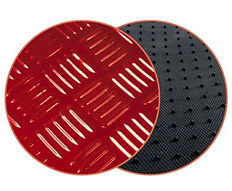réf 87 tapis en pvc imitation alu rouge peraline