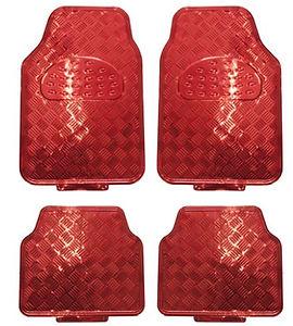 réf87 tapis auto alu rouge en pvc
