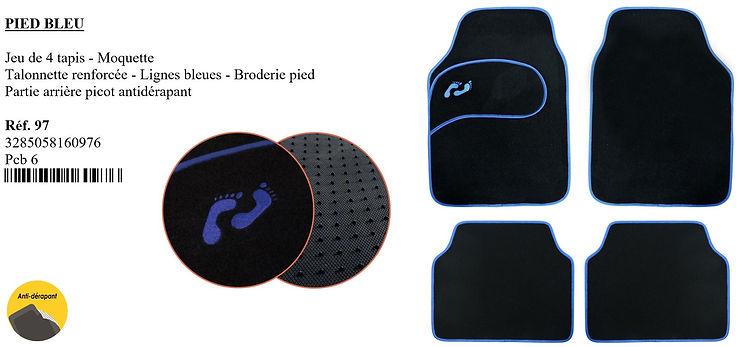 peraline tapis de voiture pied bleu