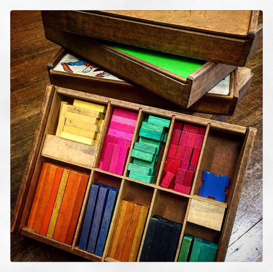 Cuisenaire rods – smell that history!
