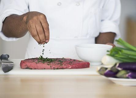 調味料のステーキ