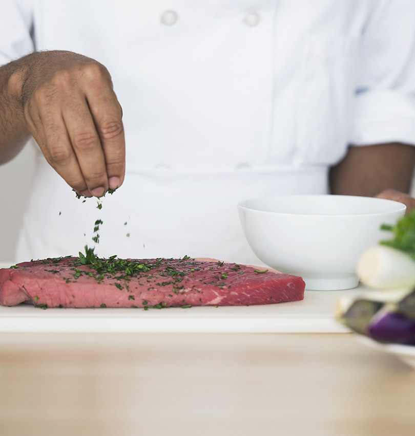 Würzen Steak