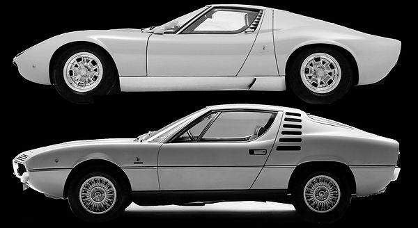 Lamborghini Miura vs Alfa Romeo Montreal