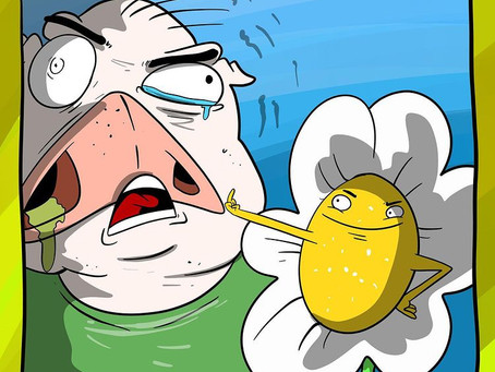 Sniffle has Johny, he doesn't like spring, he hisses little birds that he doesn't like