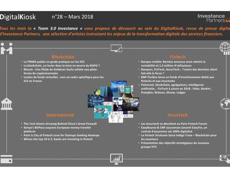 DigitalKiosk n°28 - Newsletter Digital & Innovation Mars 2018
