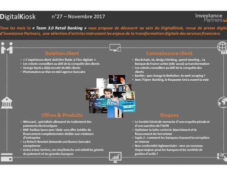 DigitalKiosk n°27 - Newsletter Digital & Distribution Novembre 2017