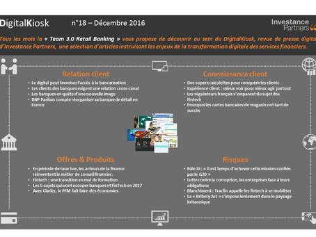 DigitalKiosk n°18 - Newsletter Digital & Distribution Décembre 2016