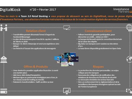 DigitalKiosk n°20 - Newsletter Digital & Distribution Février 2017