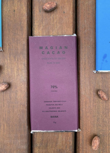 CHOCOLATE 70% CACAU TRINITÁRIO CCN10 70 g