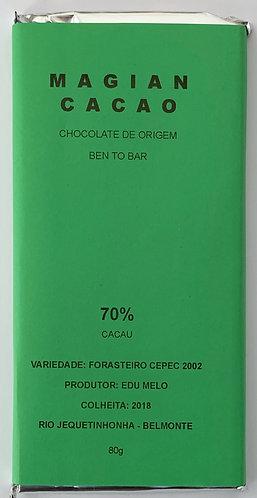 CHOCOLATE 70 % CACAU VARIETAL FORASTEIRO CEPEC 2002