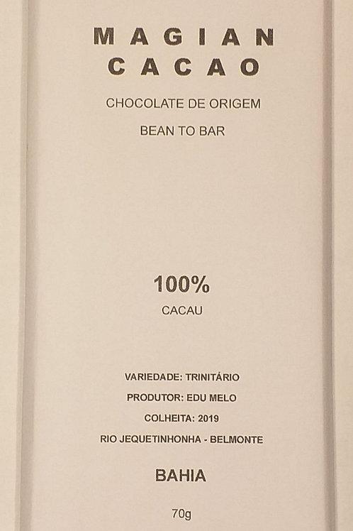 CHOCOLATE 100 % CACAU  70g