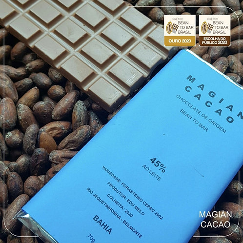 CHOCOLATE AO LEITE 45 % CACAU PREMIADO 70g