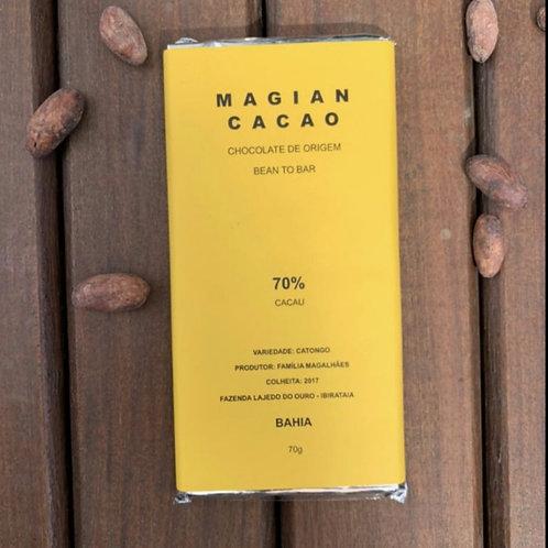 CHOCOLATE 70% CACAU FORASTEIRO CATONGO 70g