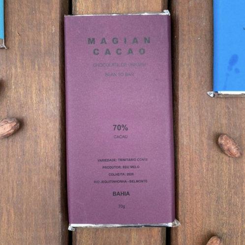CHOCOLATE 70% CACAU TRINITÁRIO CCN10 70g