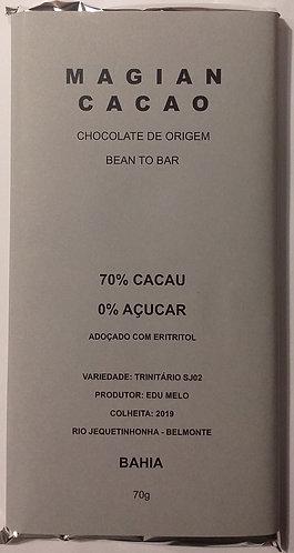 Chocolate 70 % Zero Açucar