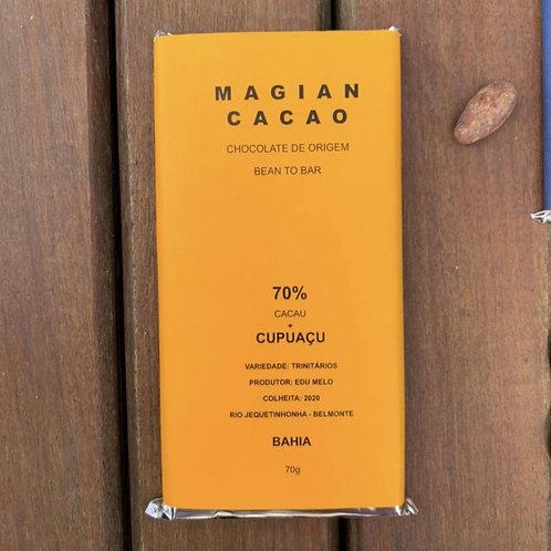 CHOCOLATE 70% CACAU + CUPUAÇU 70g