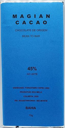 CHOCOLATE AO LEITE 45 % CACAU