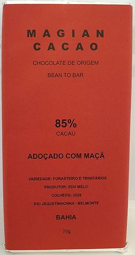 85 % cacau adoçado com açúcar de maçã