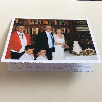 Thank you card - Wedding Eynsham Hall