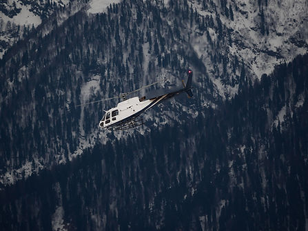 Helicop, courchevel et meribel