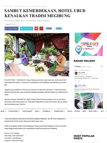 Sambut Kemerdekaan, Hotel Ubud Kenalkan Tradisi Megibung - Radar Malang Online.png