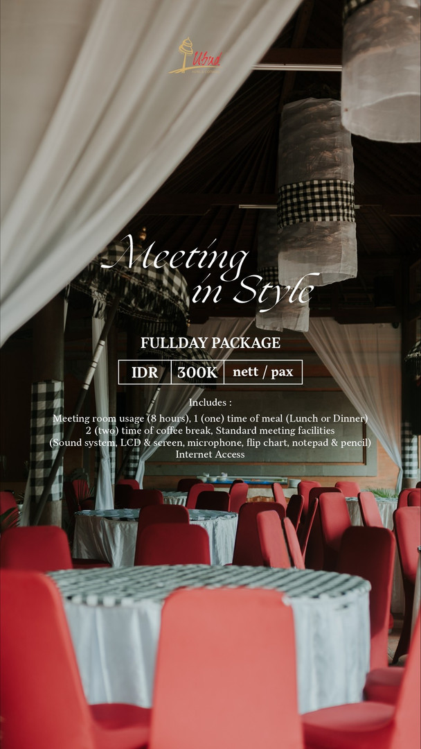 Fullday Meeting Package