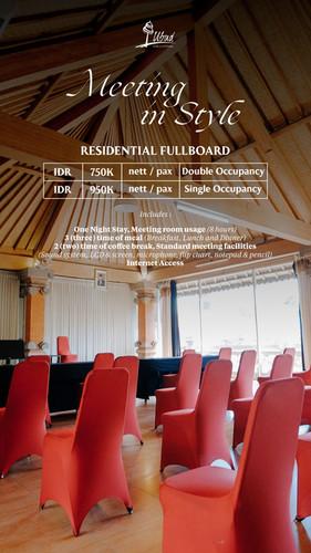 Residential Fullboard Package