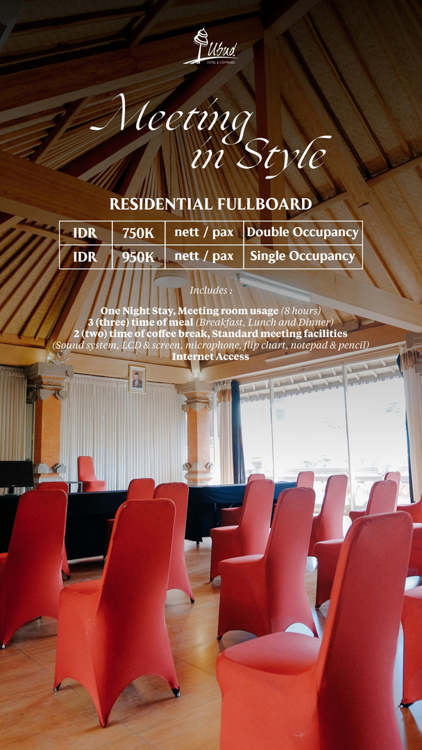 Residential Fullboard Package