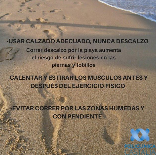 Llega el buen tiempo y mucha gente se anima a correr por la playa. Es muy recomendable, pero nuestro fisioterapeuta nos da unos consejos para hacerlo de la manera más adecuada.