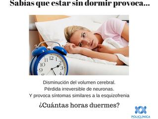 ¿Duermes suficientes horas?