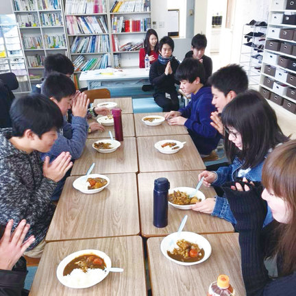 冬季講習食事の様子
