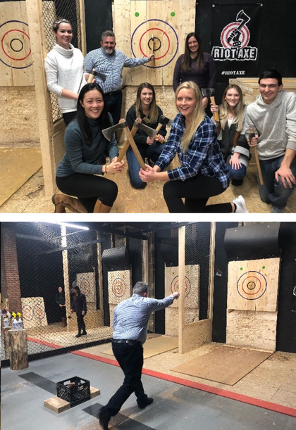 MEDUCOM goes axe throwing!
