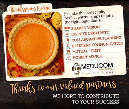Happy Thanksgiving from MEDUCOM!