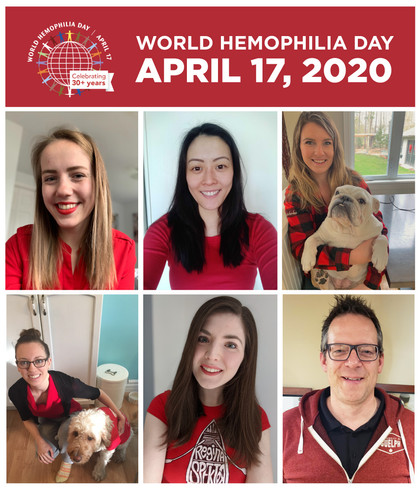 #AllinRed for the 30th annual World Hemophilia Day