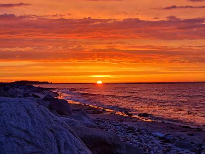 Sonnenuntergang am Kitespot der Kiteschule Fehmarn : KITETRAINER