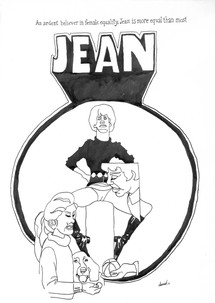 JEAN, an ardent believer in female equality