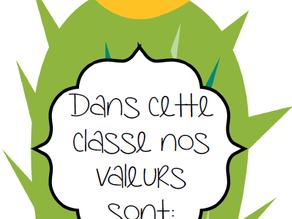 Nos valeurs en classe