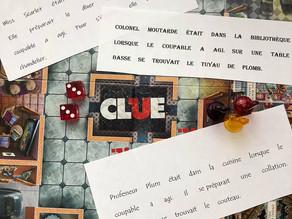 Vivre le jeu Clue en classe