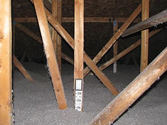 Blown Cellulose Insulation in home