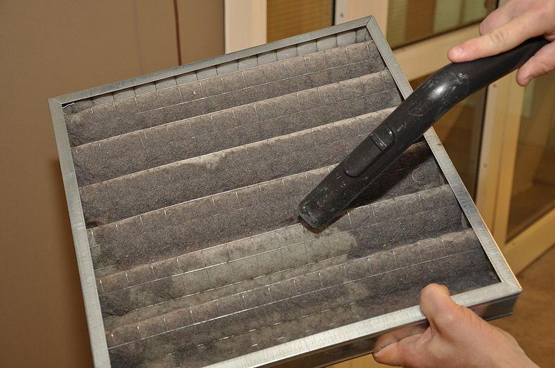 A dirty HVAC filter