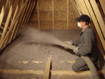 Cellulose Insulation installed in attic