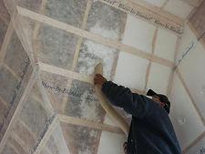BIBS Blown in Blanket Insulation being installed