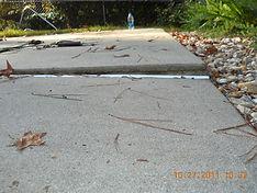 Polyurethane Concrete Lifting on walkway