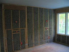 Cellulose Insulation in the walls of the home