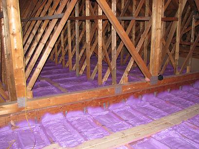Walltite ECO Spray Foam on Floor of Attic