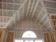 BIBS Blown in Blanket Insulation being installed in celling