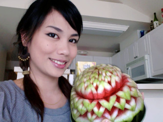 Turning fruit and veggies into artwork