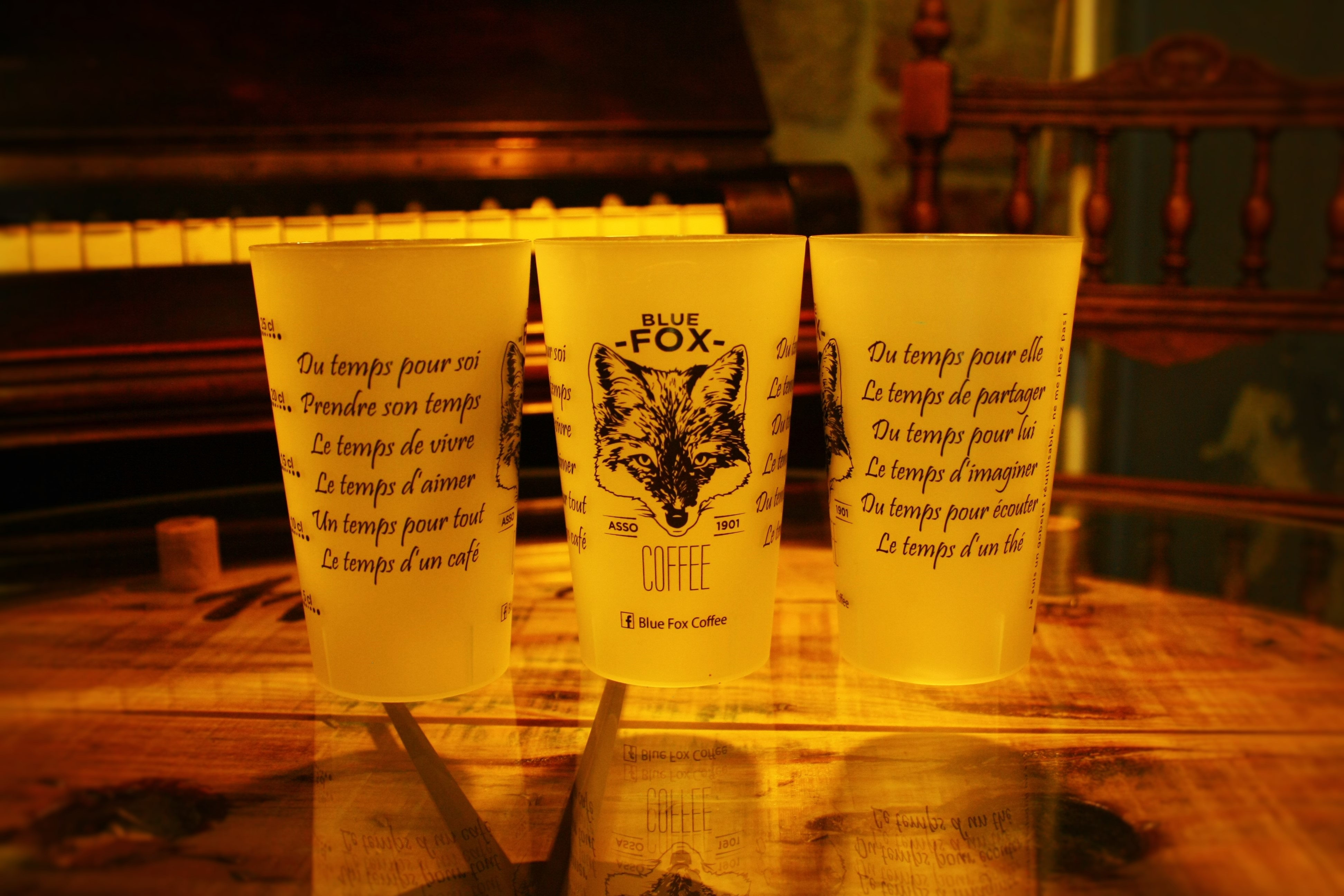 Blue Fox éco-cups